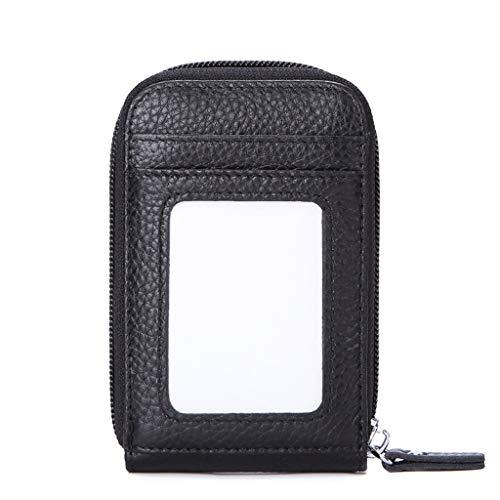 RFID carta di credito titolare PELLE E Kartenetui UWILD® portafoglio in un cassa di carta carta del supporto della borsa del portafoglio tasto nero 12 soggetti