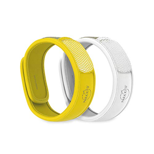 PARA'KITO Mosquito Repellent Pack - 2 Wristbands | 2 Refills (Yellow + White)