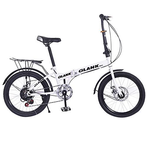 Unisex Falt-Fahrrad,XshuaiRTE 20 Zoll Leichtes Mini Faltrad Kleines Tragbares Fahrrad Erwachsener Student,Jungen-Mädchen-Fahrrad & Herren-Damen-Fahrrad,Mountainbike,Steel V-Brake