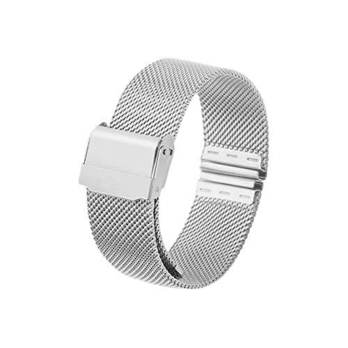 Zinniaya 12mm 14mm 16mm 20mm Correa de Reloj Banda de Reloj de Pulsera de Acero Inoxidable de Malla magnética de Acero Inoxidable Reloj de liberación rápida para Reloj DW