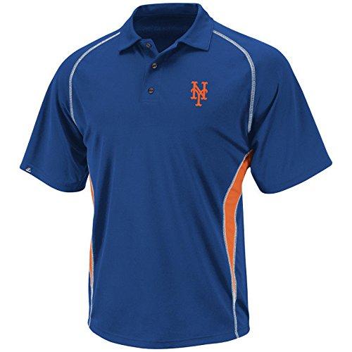 MLB Baseball Polo Shirt Poloshirt New York NY Mets Synthetic Athletic Advantage in MEDIUM (M)