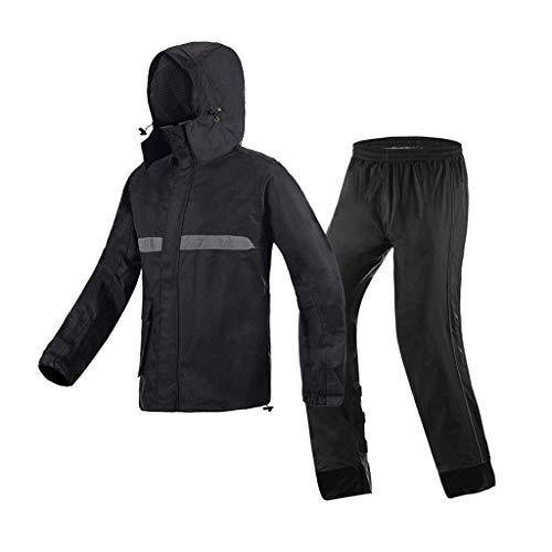 Regenmantel, REGT Hose, Im Freien Wasserdichten Und Regendichte Anzug, Reflektierende Kleidung, Einzelreit Split Regen Leinwand Motorrad Regenmantel Regen Hosen Set (Size : L)