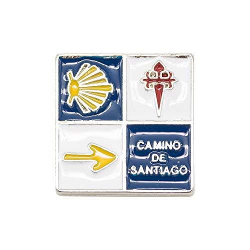 Finoly Pin Camino de Santiago para Ropa Varios Diseños Xacobeo Jacobeo (Pin Flecha Cruz Concha Camino Santiago)