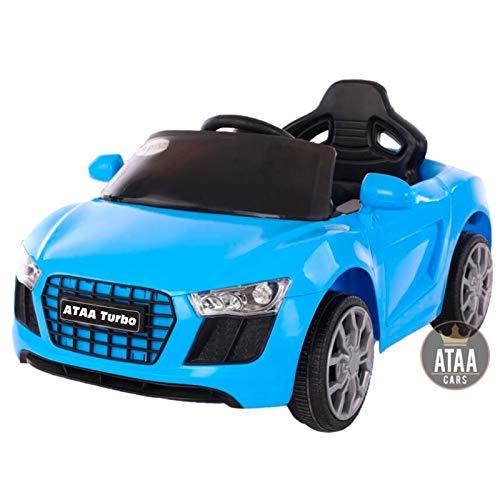 ATAA Turbo - Azul -Coches electricos para niños con Mando para Padres y batería 6v - Coche eléctrico Infantil -