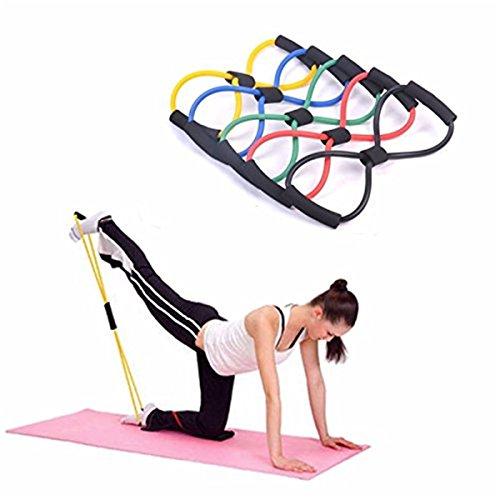 Cuerda Banda Elástica Tubo Tipo 8 para Gimnasio Entrenamiento Rehabilitación Yoga Pilates Colores 1 Pcs