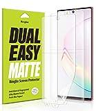 Ringke Dual Easy Film Matte [2 Pack] Progettato per Pellicola Protettiva Galaxy Note 10, Proteggi Schermo Galaxy Note 10 5G (2019)
