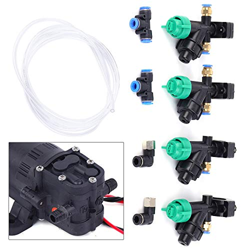 ZHFEISY Pressure Washing Sprayer System - 0.5 Gallon Sprayer Pump + Nozzles + 12V Step-Down Module + Pipes Set Sprayers Agriculture Drone Spray System for Home/Patio/Lawn/Garden