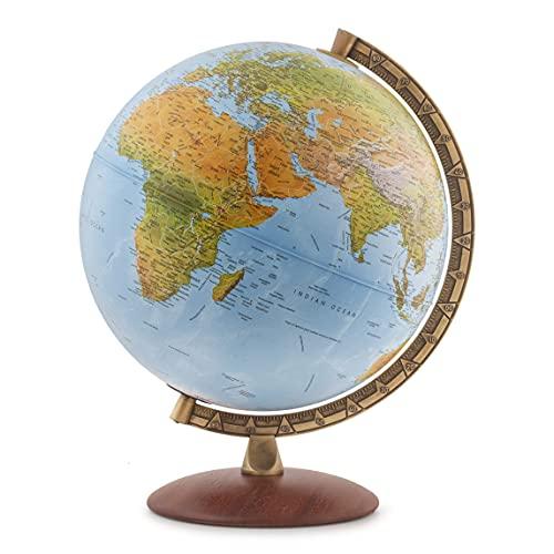 "Waypoint Geographic Light Up Globe - Lugano 12"" Desk Decorative Illuminated Globe with Stand &..."