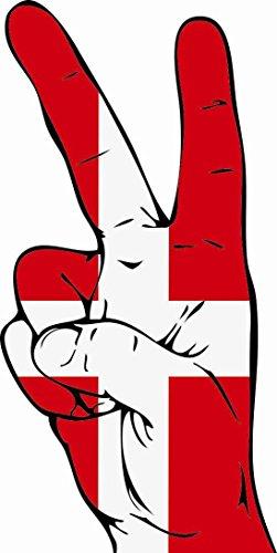 U24 Aufkleber Peace Finger Dänemark Autoaufkleber Sticker