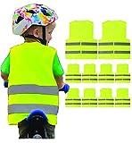 10 Kids Reflective High Visibility Safety Vest