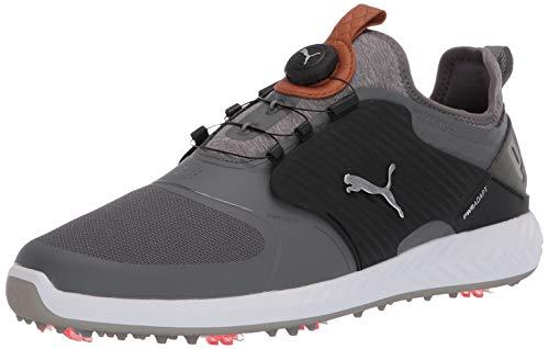 Puma Golf Men's Ignite Pwradapt Caged Disc Golf Shoe, Quiet Shade-Bronze-Puma Black, 10 M US