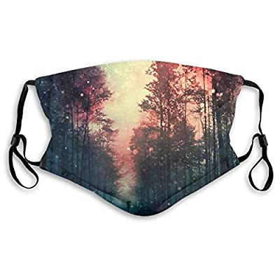 Ybdlho Fashion Printed Magical Forest Dust with Filter Element Anti-Dust,Repeatable,Protective Filter
