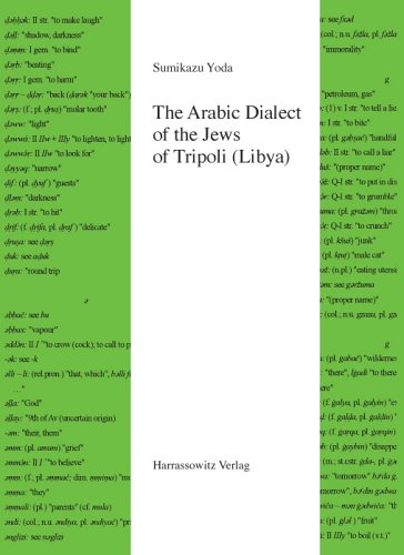 The Arabic Dialect of the Jews of Tripoli (Libya): Grammar, Text and Glossary (Semitica Viva, Band 35)