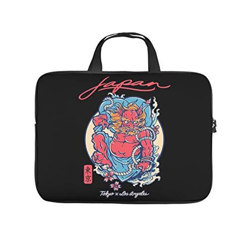 Japanese Devil Tokyo Laptop Bag Scratch Resistant Laptop Protective Case Pattern Notebook Bag for University Work Business