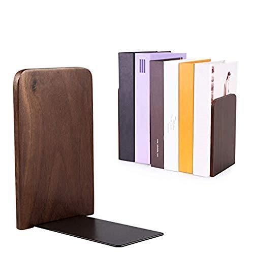 Dyna-Living Buchstützen Holz Buchhalter Nussbaumholz buchständer 1 Paar Buch Büro Hause Schule Office Home Supplies