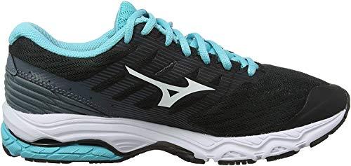 Mizuno Wave Prodigy 2, Zapatillas de Running para Mujer, Negro (Black/White/Stormy Weather 16), 38 EU
