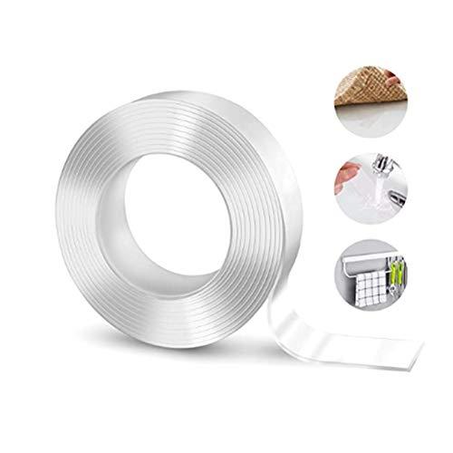 DIMDIM Doppelseitiges Tonband 39,37 Zoll / 118,11 Zoll / 196,85 Zoll Nano-Band Transparentes Wiederverwendbares Wasserdichtes Band(Size:1M)