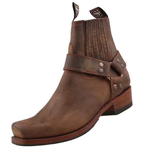 Sendra Boots Bikerstiefel 8286 Braun, Schuhgröße:EUR 43