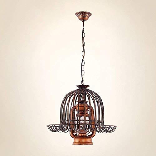Lámpara vintage de hierro forjado nostálgico, clásica lámpara de paja, lámpara de querosina, lámpara de huracan, decoración de estilo europeo y americano