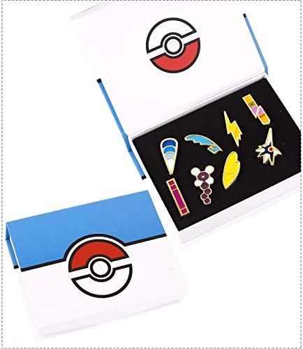 FENGHE Pokemon 3pcs / Lot Pokemon Go 1 Kanto League Badge Pin Broche Pip Cosplay Set De Colección De Regalos