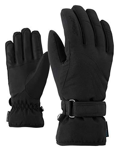 Ziener KONNY AS Lady Glove Gants de Ski / Sports d'hiver | Imperméables et Respirants, Noir (Noir), 7,5