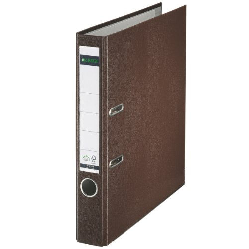 Leitz 10155075 Qualitäts-Ordner (Plastik-Cover, A4, 5,2 cm Rückenbreite) brown