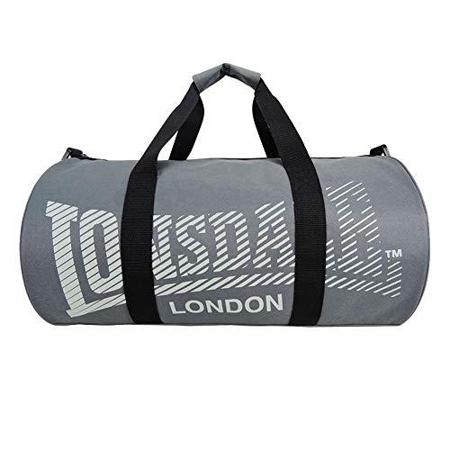 LONSDALE London Barrel Bag Tasche Sporttasche Fitnesstasche Reisetasche Dunkelgrau-Grau