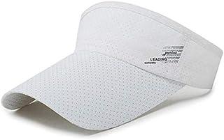 GoQuik Summer Men and Women Empty Top Hat Outdoor Sports Mesh Visor Ladies Sunscreen No Top Sun Hat New Cap (Color : White)