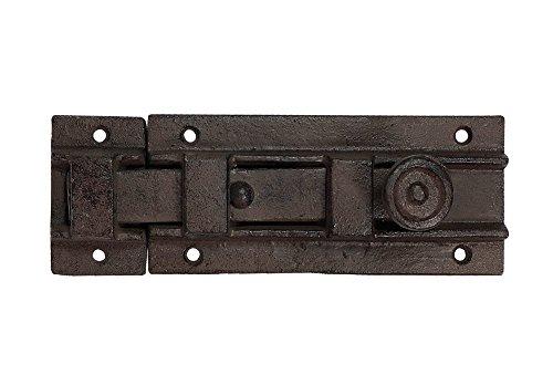 zeitzone Rustikaler Türriegel Schlossriegel Schieberiegel Gusseisen Antik-Braun 20cm