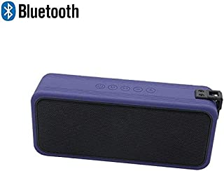 KJRJLY Waterproof Bluetooth Speaker, Outdoor Protable Speaker Wireless Stereo Sound,Built in Microphone Support Power Bank,USB,3.5Mm Audio Port Playtime 10H (Color : Blue)