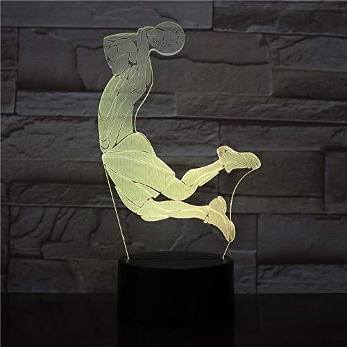 Creativo Visual Baloncesto Barrios Marginales Noche luz Color casa Mesa Fiesta Bar decoración lámpara niño Hombre niño como Regalo