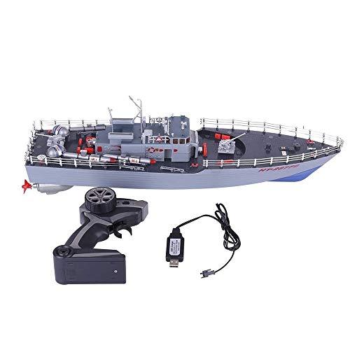 MUZoo Military Destroyer Fernbedienung Warship hohe Simulations-Fernbedienung Torpedo-Boot Dual-Motor-Antrieb Hochgeschwindigkeits-RC Geschwindigkeits-Boot Professionelle 2,4 GHz Militär Battleship Sp