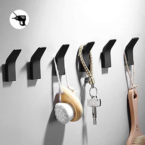 Jinhuaxin Ganchos Autoadhesivos 6 piezas, colgadores pared adhesivos inoxidable acero toalla ganchos adhesivos para pared, gancho de pared impermeable y resistente (Ganchos Autoadhesivos 1)