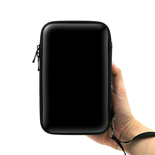 ADVcer 3DS Case, EVA Waterproof Hard Shield Protective Carrying Case with Detachable Hand Wrist Strap for Nintendo New 3DS XL, New 3DS, 3DS XL, 3DS, 3DS LL or 2DS XL or DSi, DS Lite (Black)