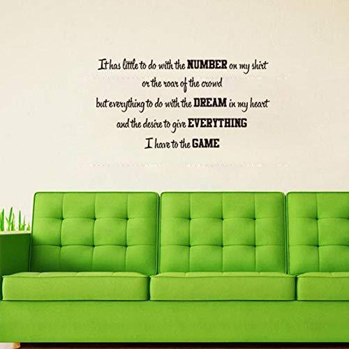 Runinstickers muurstickers, creatieve Engelse kunst applicatie zwart DIY muursticker vinylbehang woonkamer slaapkamer huis sticker bed muursticker decoratie waterdicht