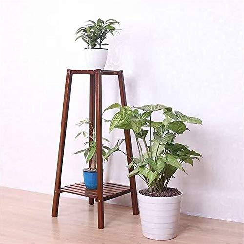 Antique Balcon Chlorophytum Bamboo Flower rack Noyer angle Cadre de vie Atterrissage Chambre Multilayer Plante Pot de fleurs étagère Affichage - 3 tailles (Size : 70cm)