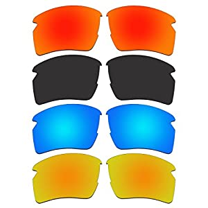 ACOMPATIBLE 4 Pair Replacement Polarized Lenses for Oakley Flak 2.0 XL Sunglasses OO9188 Pack P8