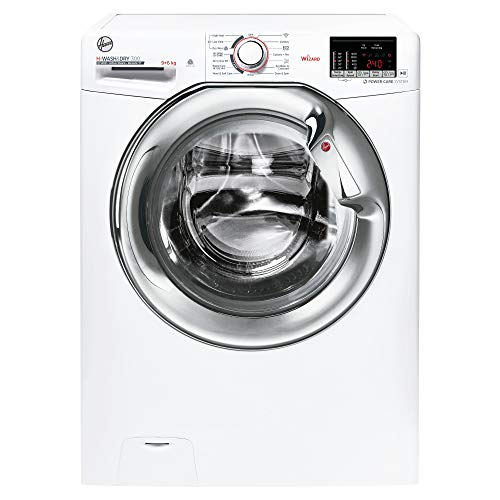 Hoover H3DS4965DAC 9KG Wash 6KG Dry 1400RPM Washer Dryer- White with Chrome Door