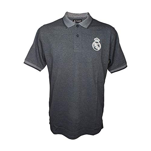 Polo Gris Real Madrid Producto Oficial (L)