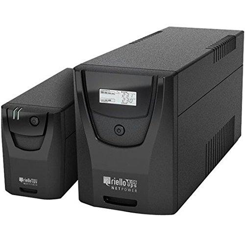 Riello Netpower - Sistema de alimentación ininterrumpida, 1000 VA, Color Negro