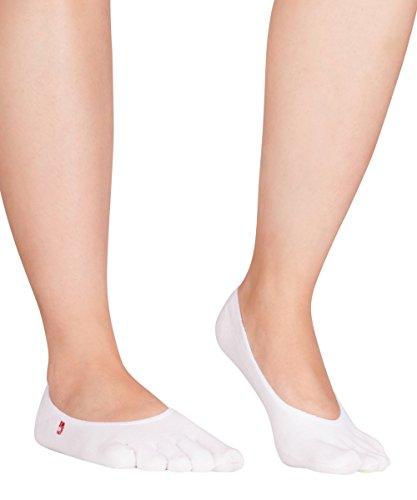 Knitido Zero Zehensocken Füßlinge, dünne Coolmax Socken für Aktive, Slipper Socken, Damen und Herren, Größe:39-42, Farbe:weiß (002)