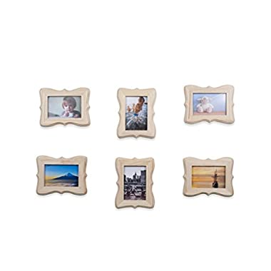 Wallniture Victorian Picture Frames DIY Projects Crafting Unfinished Wood for 4x6 Photos Set of 6