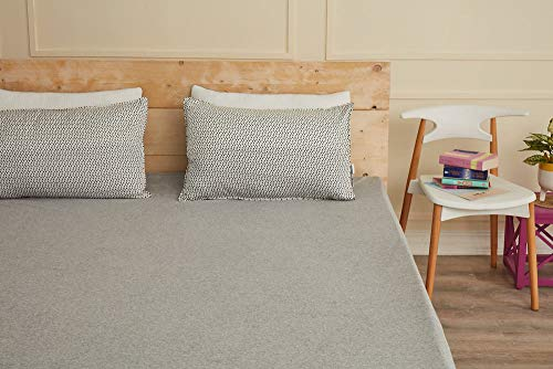 """Wakefit Water Proof Terry Cotton Mattress Protector 78""""x72"""" - King Size, Grey 2"""