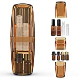 UTOTEBAG Travel Toothbrush Case Portable Toothbrush Holder Wash Cup Space Saving Travel Kit with Travel-size Bottles for Toiletry, Travel Accessories Container for Trip, Camping, Gym, Amber