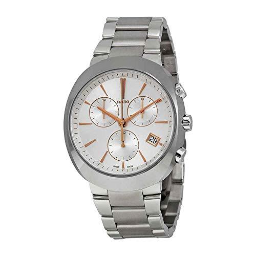 Rado Herren-Armbanduhr Armband Edelstahl Weiß + Gehäuse Quarz R15937113