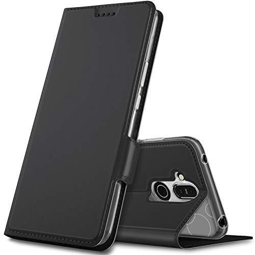 Geemai Cover per Nokia 8.1,Flip Case Custodia a Portafoglio in PU Premium Protezione di Lunga Durata,Compatibile per Nokia 8.1 Smartphone.(Nero)