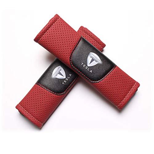 Almohadillas Para Los Hombros CinturóN De Seguridad Del AutomóVil Almohadillas,Para Tesla Model 3 El AutomóVil Moda Cubierta CinturóN De Seguridad Accesorios Para El AutomóVil 2 Piezas