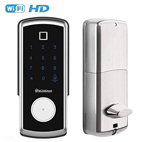 2020 Digital Fingerprint Door Lock Auto Smart Lock Handleless Fingerprint/IC Card/Touch Screen Keypad/Keys,Keyless Biometric Door Lock for Home/Airbnb Hotel