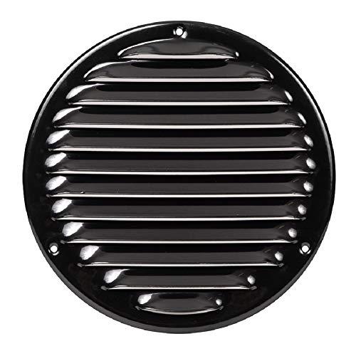 Ø 160mm Schwarz Lüftungsgitter mit Insektenschutz Rund Metall Gitter Außenmaß: 200mm