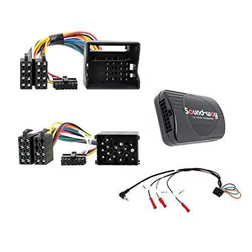 Sound Way Adaptateur Interface de Commande au Volant avec câble pour autoradio Toutes Marques Compatible avec BMW/Mini Cooper